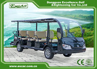 Aluminum Chassis Tourist Electric Sightseeing Bus With Dc System