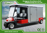 China Red 2 Seater 48v Electric Ambulance Vehicle For Park 1 Year Warranty factory