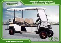 China 48V EXCAR 4 Wheel 6 Seat  Electric Golf Carts With CE Certificated golf buggy car factory