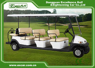 White Aluminum Trojan Battery Golf Cart 11 Seater / Mini Tour Bus