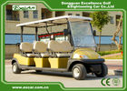 Golden 48V 3.7KW 6 Seater Electric Golf Carts , Trojan Battery Buggy Car Golf