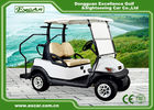 China White 48v Battery Golf Cart , Two Passenger Club Car Golf Cars With 100% Waterproof Accelerator factory