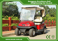China EXCAR 3.7KM 48 Volt Electric Golf Car 2 Seater With Rain Cover Custom factory