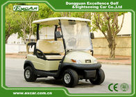 Beige 2 Passenger Electric Club Car Golf Cars 48v Trojan Battery