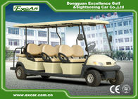 China 48V 3.7KW 8 Seater Golf Buggy / Electric Sightseeing Car With Deep Cup Holders factory