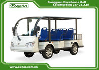 EXCAR 8 Seater Electric Sightseeing Car , 72V 7.5KW Trojan Battery Tour Bus