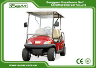 Red 6 Seater Club Car Golf Cart With Rain Cover , ADC 48V 3.7KW Motor