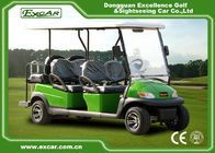 Green 6 Passenger Electric Golf Carts Charging Time 8-10 Hours Steel Chassis