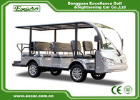 Silver 11 Seater Electric Sightseeing Bus 7.5KW KDS Motor 1 Year Warranty