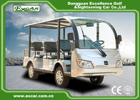 Durable 72V 7.5KM Electric Sightseeing Car With Storage Basket Climbing Capacity 25%