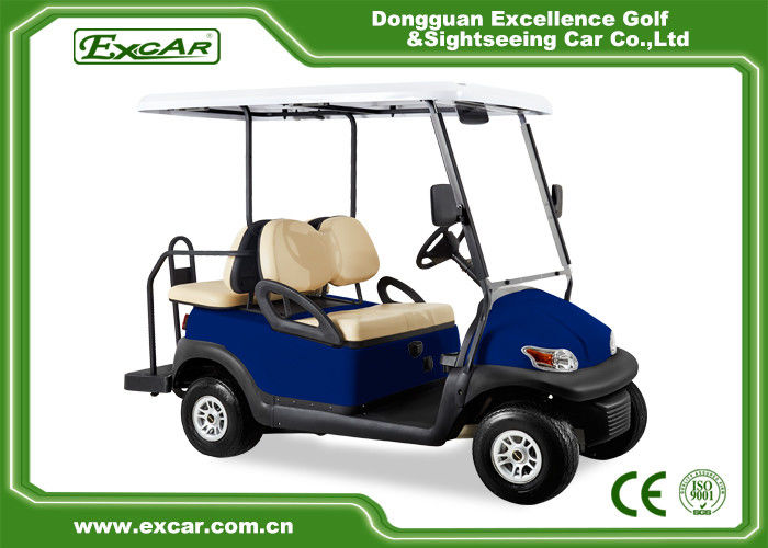 Blue Golf Carts With Trojan Battery/Curtis Controller/ADC Motor