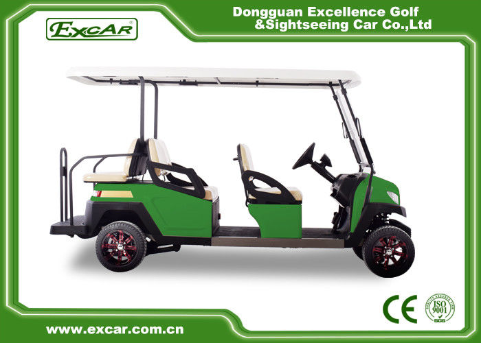 Dark Green Club Car Golf Carts 4 And 2 Seats With Curtis
