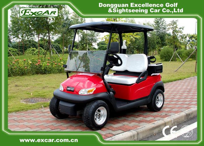 Metallic Red Electric Golf Car 2 Person Golf Club Car 48V