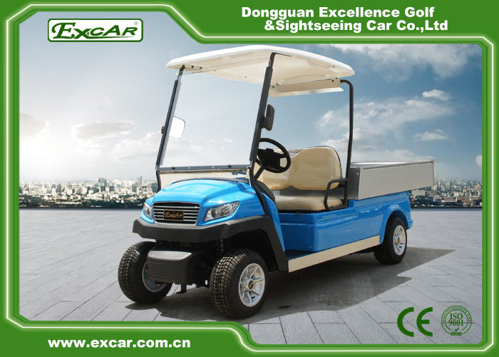 Blue Electric Utility Golf Cart Hotel Buggy Car For 2 Person Battery