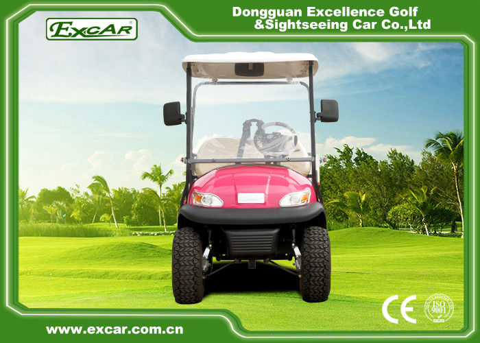 Pink Open Cargo Trojan Battery Electric Golf Vehicle Curtis