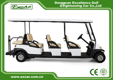 Club Course 8 Passenger Used Electric Golf Buggy With Headlight Trojan Battery