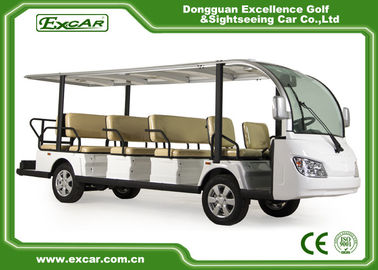 China EXCAR White 14 Seater Electric Sightseeing Bus With Trojan Battery factory