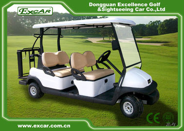 Aluminum 6 Seats White Golf Buggy Cart ADC 48V 3.7KW Electric Golf Cart