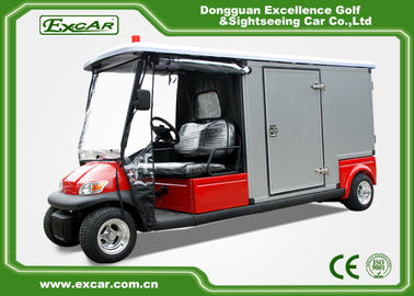 China Red 2 Passenger Electric Ambulance Car For Emergency Closed Type factory