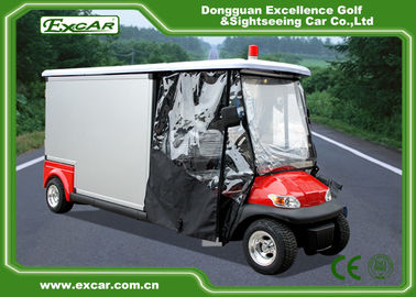 2 Seater Electric Ambulance Car 3.7KW 48V Trojan Battery With Cargo Box