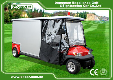 Environmental Electric Ambulance Car Red Golf Cart Ambulance For Hospital