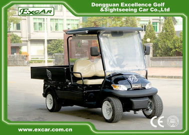 2 Passenger Black Color Golf Food Cart 3.7KW Acim Motor DC System