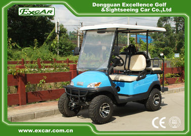 48V Battery Operated Hunting Golf Carts Fuel Blue Colour With ISO Certification
