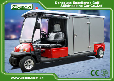 China RED 48V 2 seater Electric Ambulance Car / Club Emergency Golf Carts factory