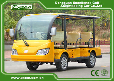 China Yellow 72V 7.5KM 8 Seater Electric Sightseeing Car With Storage Basket factory