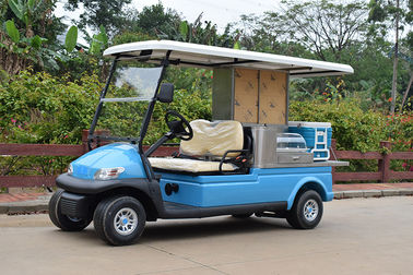 2 Passenger Electric Beverage Golf Cart With Utility Cargo / Electrical Food Buggy