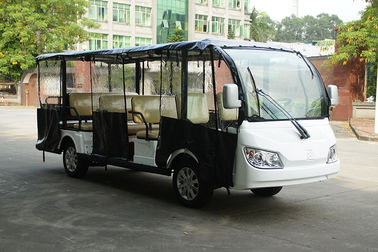 China 72V Battery Power Electric Sightseeing Car With Rain Cover 14 Inch Tire factory