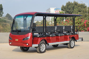 China Red Electric Sightseeing Cart For 14 Passengers CE Certificate / Mini Golf Buggy factory