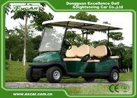 Aluminum Chassis 6 Passenger Electric Car 3500 * 1200 * 1900 MM 48V Motor