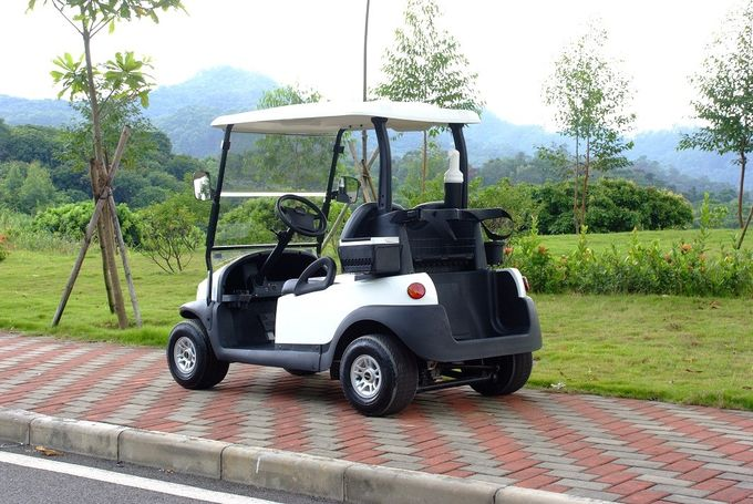 Excar 48V Electric Golf Car Pearlized White Color Aluminum Chassis