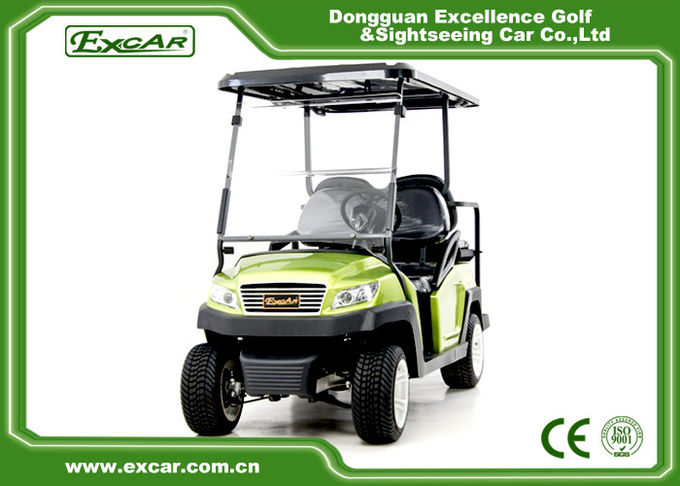 350A Controller Electric Lifted Golf Carts With Rear Seat For 4 Passengers